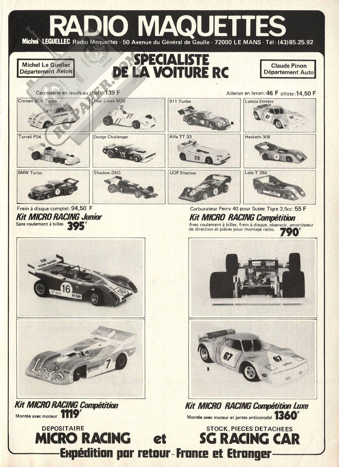 Modélisme Vintage Rc Racing Autres Micro 139 RcJouets hdsQCtr